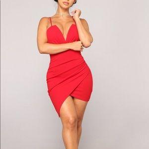 Fashion Nova Red Bodycon Dress